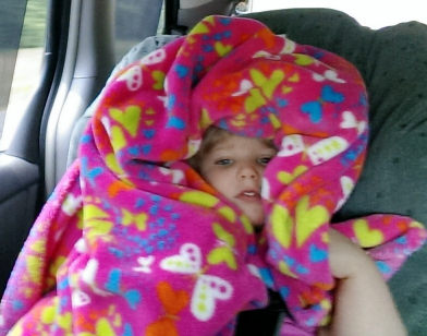 Rhema Hiding In Blanket in Van2 May 2014 SNAG-0010