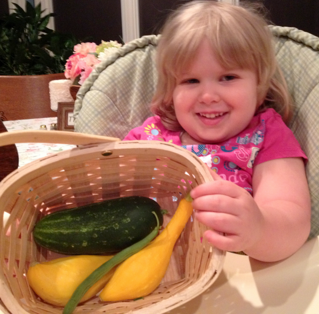 1st Harvest From Garden June 2014 SNAG-0003