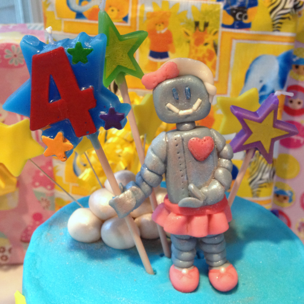 4th Birthday Robot Cake Topper Aug 2014 SNAG-0016