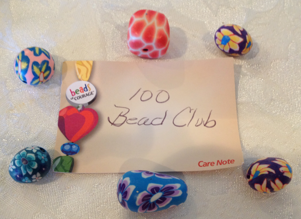 Beads of Courage 100 Days per Bead for Therapies Dec 2014 SNAG-0001