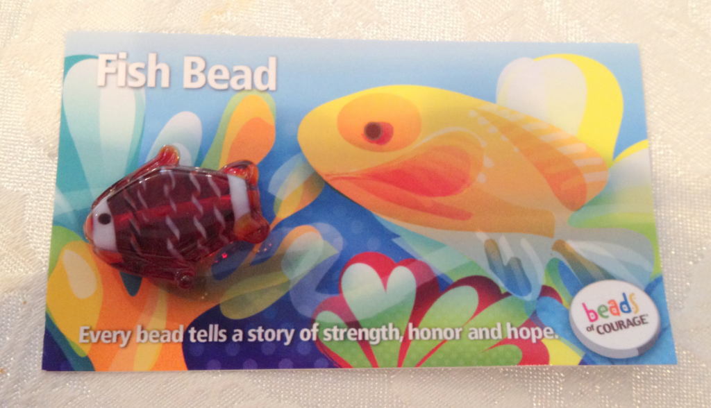 Fish Bead for Shriners Hospital Beads of Courage Dec 2014 SNAG-0004